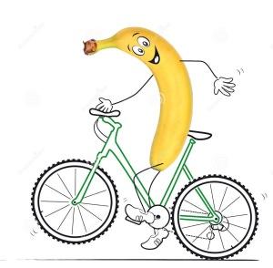 banaan fietst